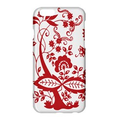Red Vintage Floral Flowers Decorative Pattern Clipart Apple iPhone 6 Plus/6S Plus Hardshell Case