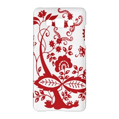 Red Vintage Floral Flowers Decorative Pattern Clipart Samsung Galaxy A5 Hardshell Case