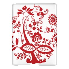 Red Vintage Floral Flowers Decorative Pattern Clipart Samsung Galaxy Tab S (10.5 ) Hardshell Case