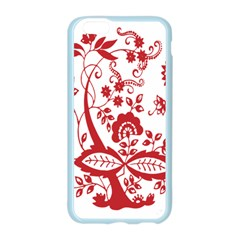 Red Vintage Floral Flowers Decorative Pattern Clipart Apple Seamless iPhone 6/6S Case (Color)