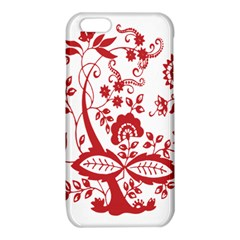Red Vintage Floral Flowers Decorative Pattern Clipart iPhone 6/6S TPU Case