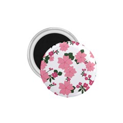 Vintage Floral Wallpaper Background In Shades Of Pink 1.75  Magnets
