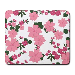 Vintage Floral Wallpaper Background In Shades Of Pink Large Mousepads