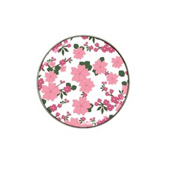 Vintage Floral Wallpaper Background In Shades Of Pink Hat Clip Ball Marker