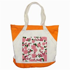 Vintage Floral Wallpaper Background In Shades Of Pink Accent Tote Bag