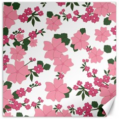 Vintage Floral Wallpaper Background In Shades Of Pink Canvas 16  X 16