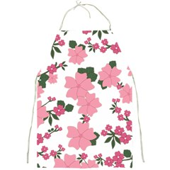 Vintage Floral Wallpaper Background In Shades Of Pink Full Print Aprons