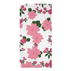 Vintage Floral Wallpaper Background In Shades Of Pink Shower Curtain 36  X 72  (stall)