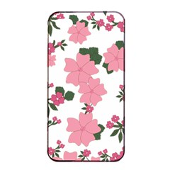 Vintage Floral Wallpaper Background In Shades Of Pink Apple iPhone 4/4s Seamless Case (Black)