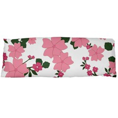 Vintage Floral Wallpaper Background In Shades Of Pink Body Pillow Case (Dakimakura)