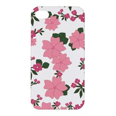 Vintage Floral Wallpaper Background In Shades Of Pink Apple iPhone 4/4S Premium Hardshell Case