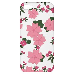 Vintage Floral Wallpaper Background In Shades Of Pink Apple Iphone 5 Hardshell Case
