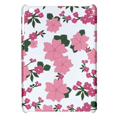 Vintage Floral Wallpaper Background In Shades Of Pink Apple iPad Mini Hardshell Case