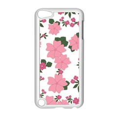 Vintage Floral Wallpaper Background In Shades Of Pink Apple iPod Touch 5 Case (White)