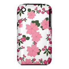 Vintage Floral Wallpaper Background In Shades Of Pink iPhone 3S/3GS