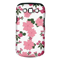 Vintage Floral Wallpaper Background In Shades Of Pink Samsung Galaxy S III Classic Hardshell Case (PC+Silicone)