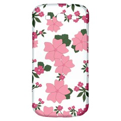 Vintage Floral Wallpaper Background In Shades Of Pink Samsung Galaxy S3 S Iii Classic Hardshell Back Case