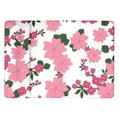 Vintage Floral Wallpaper Background In Shades Of Pink Samsung Galaxy Tab 10 1  P7500 Flip Case