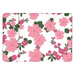 Vintage Floral Wallpaper Background In Shades Of Pink Samsung Galaxy Tab 8.9  P7300 Flip Case