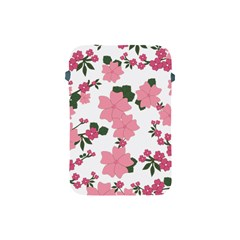 Vintage Floral Wallpaper Background In Shades Of Pink Apple iPad Mini Protective Soft Cases