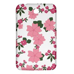 Vintage Floral Wallpaper Background In Shades Of Pink Samsung Galaxy Tab 3 (7 ) P3200 Hardshell Case