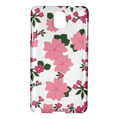 Vintage Floral Wallpaper Background In Shades Of Pink Samsung Galaxy Note 3 N9005 Hardshell Case