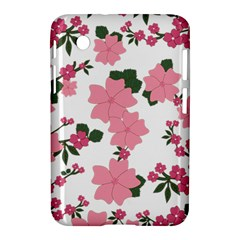 Vintage Floral Wallpaper Background In Shades Of Pink Samsung Galaxy Tab 2 (7 ) P3100 Hardshell Case
