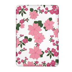 Vintage Floral Wallpaper Background In Shades Of Pink Samsung Galaxy Tab 2 (10.1 ) P5100 Hardshell Case