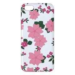 Vintage Floral Wallpaper Background In Shades Of Pink iPhone 5S/ SE Premium Hardshell Case