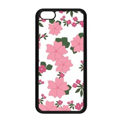Vintage Floral Wallpaper Background In Shades Of Pink Apple iPhone 5C Seamless Case (Black)