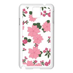 Vintage Floral Wallpaper Background In Shades Of Pink Samsung Galaxy Note 3 N9005 Case (White)