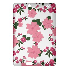 Vintage Floral Wallpaper Background In Shades Of Pink Amazon Kindle Fire HD (2013) Hardshell Case