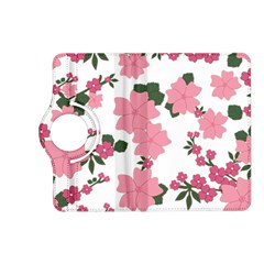 Vintage Floral Wallpaper Background In Shades Of Pink Kindle Fire HD (2013) Flip 360 Case