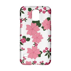 Vintage Floral Wallpaper Background In Shades Of Pink Samsung Galaxy S5 Hardshell Case