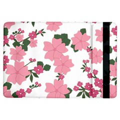 Vintage Floral Wallpaper Background In Shades Of Pink iPad Air Flip