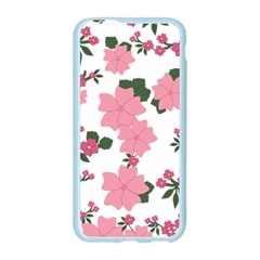 Vintage Floral Wallpaper Background In Shades Of Pink Apple Seamless iPhone 6/6S Case (Color)