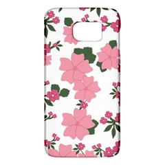 Vintage Floral Wallpaper Background In Shades Of Pink Galaxy S6