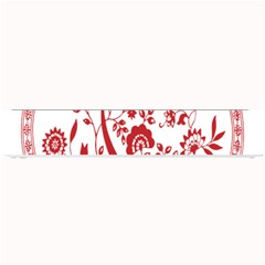 Red Vintage Floral Flowers Decorative Pattern Small Bar Mats