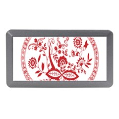 Red Vintage Floral Flowers Decorative Pattern Memory Card Reader (Mini)