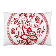 Red Vintage Floral Flowers Decorative Pattern Pillow Case (Two Sides)