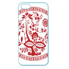 Red Vintage Floral Flowers Decorative Pattern Apple Seamless iPhone 5 Case (Color)