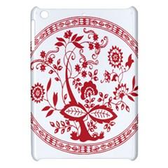 Red Vintage Floral Flowers Decorative Pattern Apple Ipad Mini Hardshell Case
