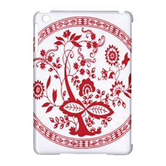 Red Vintage Floral Flowers Decorative Pattern Apple iPad Mini Hardshell Case (Compatible with Smart Cover)