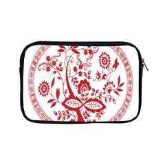 Red Vintage Floral Flowers Decorative Pattern Apple iPad Mini Zipper Cases
