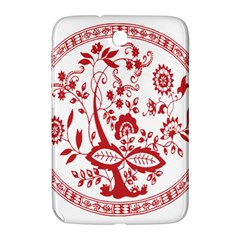 Red Vintage Floral Flowers Decorative Pattern Samsung Galaxy Note 8.0 N5100 Hardshell Case