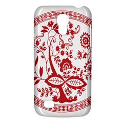Red Vintage Floral Flowers Decorative Pattern Galaxy S4 Mini