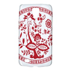 Red Vintage Floral Flowers Decorative Pattern Galaxy S4 Active