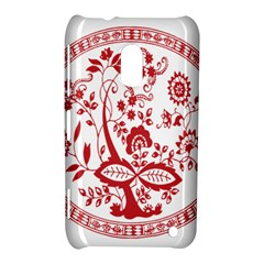 Red Vintage Floral Flowers Decorative Pattern Nokia Lumia 620