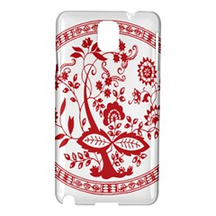 Red Vintage Floral Flowers Decorative Pattern Samsung Galaxy Note 3 N9005 Hardshell Case