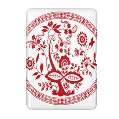 Red Vintage Floral Flowers Decorative Pattern Samsung Galaxy Tab 2 (10.1 ) P5100 Hardshell Case